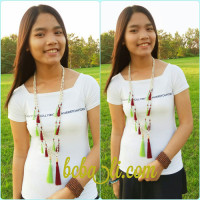 Organic Wooden Beads Necklace Handmade Multiple