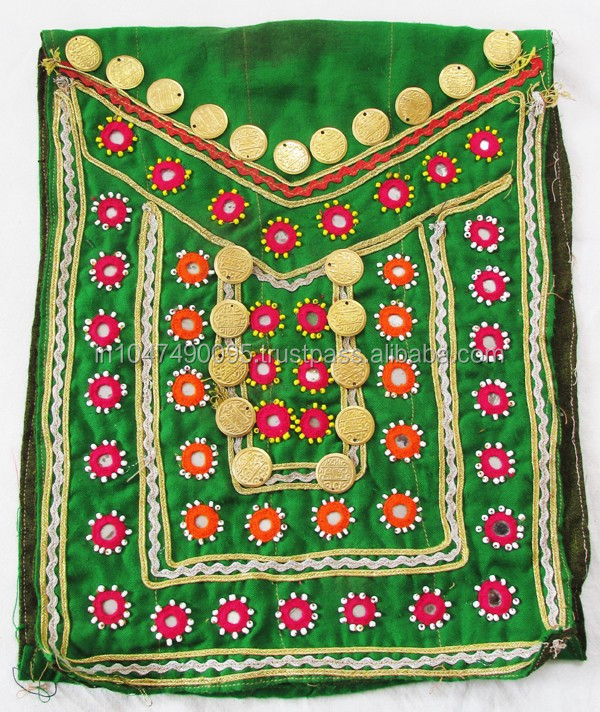 Banjara patch Antique Handmade Banjara Mirror Fabric Patch