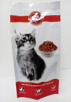 pet food custom printed packaging bag, dry cat food 4 side seal packaging, high quality cat food packaging bag