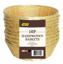 PP Straw Stackable Bread Vegetable Fruit Basket