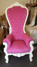 French Baroque High Back Throne King chair