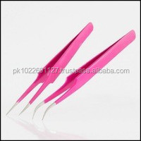 INCREDIBLY EASY TO USE Eyelash Extension Tweezers / Extra Fine Point Tweezers High Precision Ingrown Hair tweezers