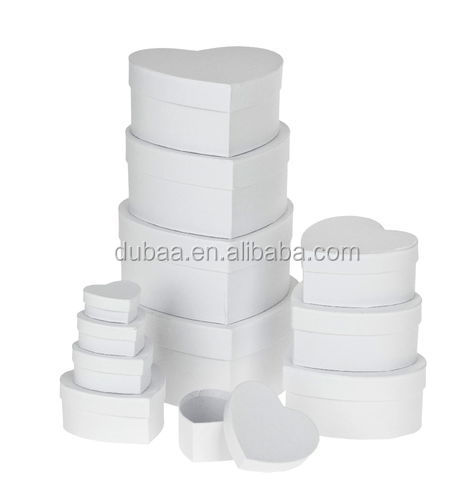 New Sets of 12 Storage Heart Boxes Set of 12 Stacking Storage Boxes Home Decoration Gift