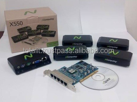 n compuitng devices for share 5 users on single desktop computer X550 kit have 5 xd2 devices and one 5 port PCI card