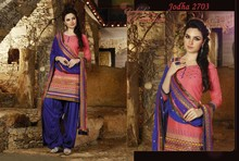 Cotton patiala salwar with neck design