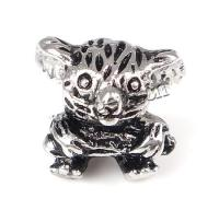 Stainless Steel Beads 316 Stainless Steel Koala without & blacken original color 14x13x9.5mm Hole:Approx 5mm Sold By PC