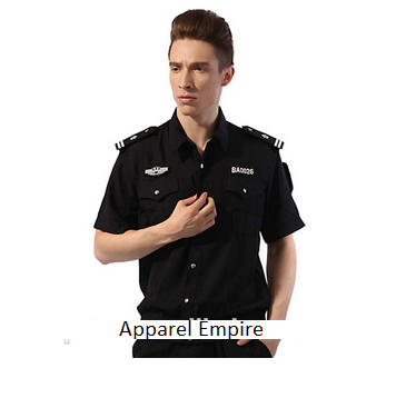 New Design Black Color Security Uniform Of Best Price Security Shirt