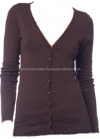 PLUS SIZE CARDIGAN: CASHMERE LIKE ACRYLIC 12GG LIGHT KNITTED CARDIGAN SWEATER