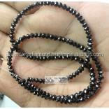 20 Carat Natural Black Loose Faceted Diamond Beads Necklace With Gold Clasp