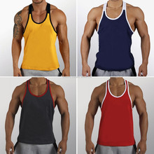 men's two toned charcoal grey & red 100% cotton jersey 180 gsm slim fit screen printed gym singlet stringer vest tank top