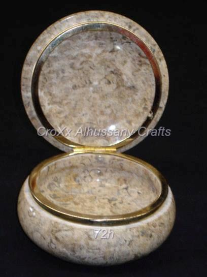 Coral Marble Powder Box in Low Price