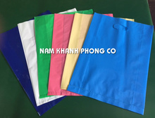 CUSTOMIZED UNPRINTING LDPE/HDPE DIE CUT SHOPPING PACKAGING PLASTIC BAG