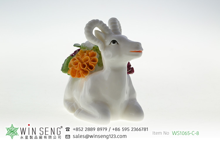 high quality best sell hot design antelope shaped ceramic home decoration