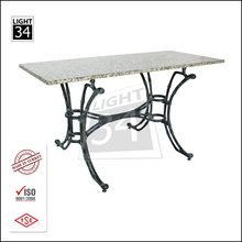 Garden Furniture Outdoor Table Home Restaurant Granite Top Dining Table