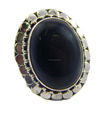 Natural black onyx 925 sterling silver ring ,JEWELRY EXPORTER