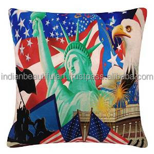 "Home Decor Throw Pillow Digital Print Decorative Cushion Cover Velvet Case 16"" X 16"" PL22943A"