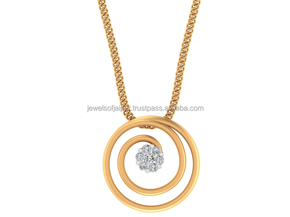 Beautiful Women Lovely Jewelry Certified Real Diamond 14k Hallmark Yellow Gold Charm Halo Pendant Jewelry