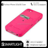 International Standard Fuchsia Colour lighter phone case for iPhone 5 Series