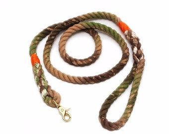 Braided Leather Neck Dog leashes