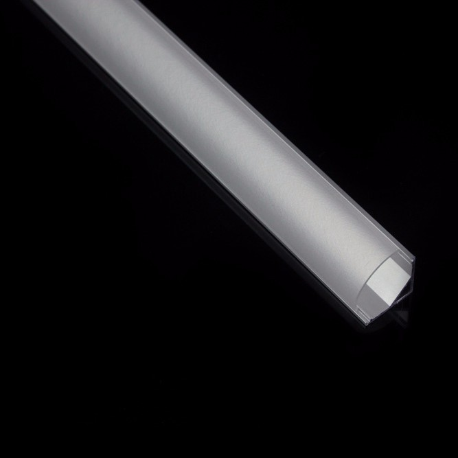 Corner Aluminum Extrusion LED Profile with Dome Cover