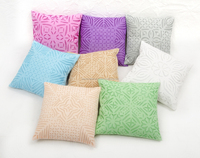 Ethnic Floral Cutwork Natural Cotton Indian Traditional Applique Work Jaipur Cushion Covers