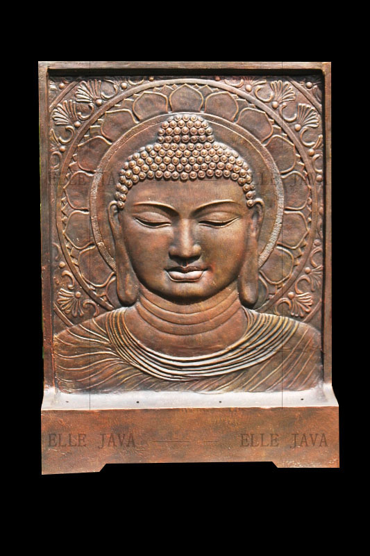 Buddha Face Water Feature Copper Color Landscaping Products