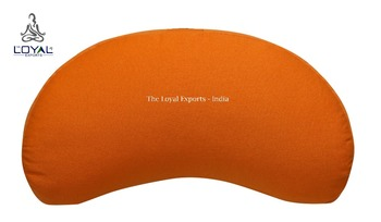 Meditation Crescent Zafu / Stress Relief Meditation Cushion / Thyana Cushion