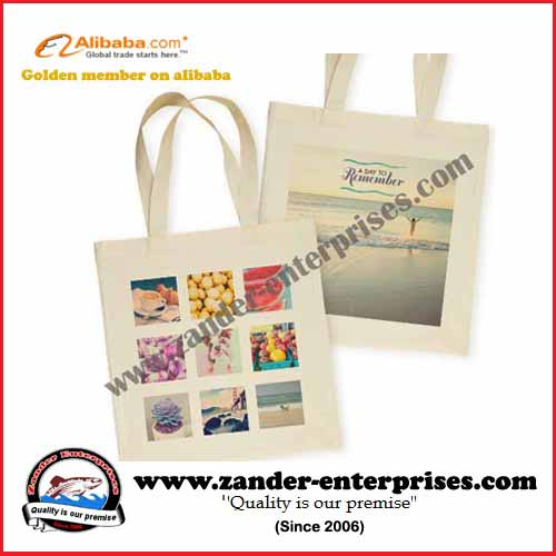 Canvas tote bags with printing and sublimation options
