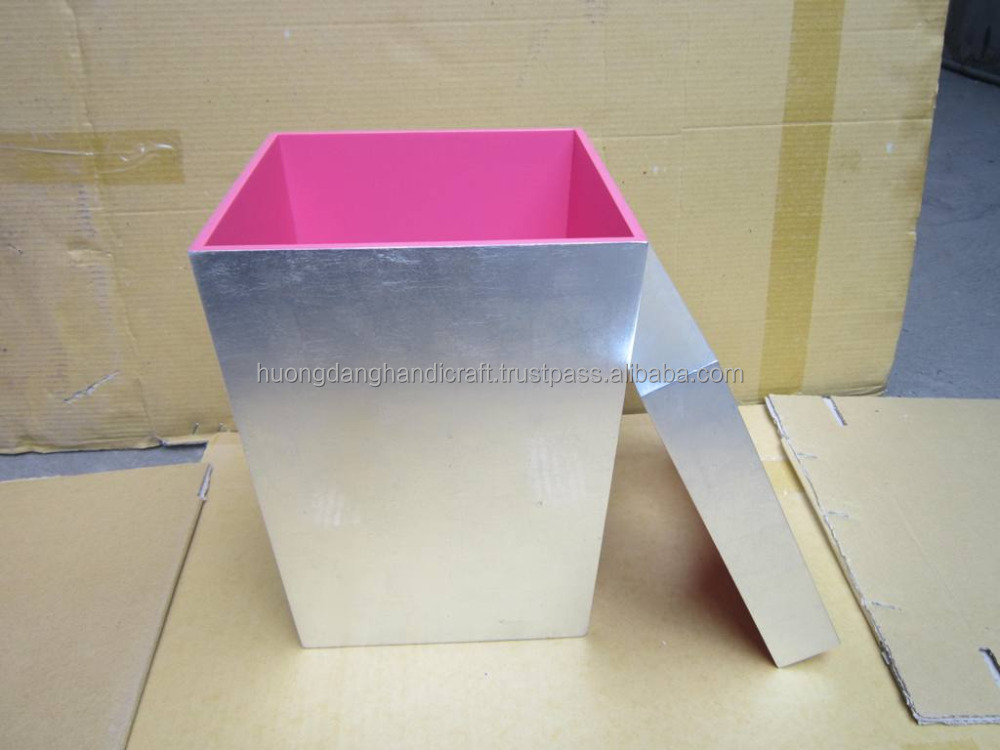 Handmade lacquer garbage can, garbage bin, garbage container for hotel, restaurant