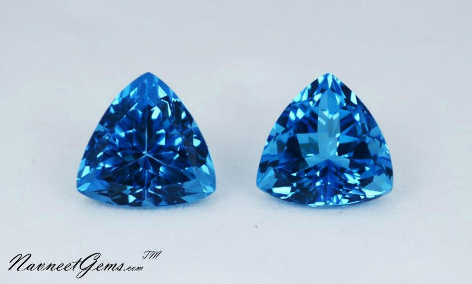 Buy Loose stones 8mm Round Swiss Blue Topaz Natural