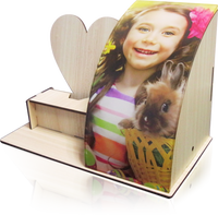 Personalised Fashion Wood USB Desk Lamp with Your Own Image