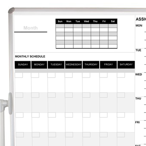 Monthly Schedule Mobile Board