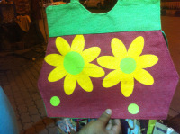 Hand Craft/Hand Embroidery Ladies Jute Bag