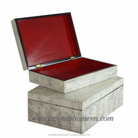 Vietnam eggshell inlaid jewelry boxes, high quality, direct supply from Ha Thai lacquer factory