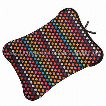 Neoprene Computer Sleeve, Both Sides with Fashionable Pattern Sublimation, Classic Design