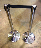 Stanchions, Crowd Barrier, Retractable Belts