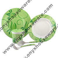 Orchid Dinnerware Set - High Quality, 100% ONYX Food Grade Melamine Dinnerware/ Tableware/ Dishes (Plates/ Bowls/ Cups)