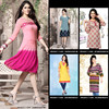 Bollywood Fashion Western Style Ladies Short Kurti / Top