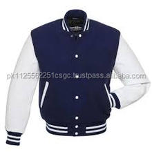 Blue And white Varsity jacket