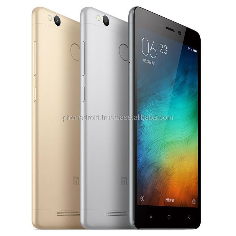 "Original Xiaomi Redmi 3S 3 S Mobile Phone Snapdragon 430 Octa Core 5"" HD 2GB RAM 16GB ROM 13MP Camera Metal Body Fingerprint ID"