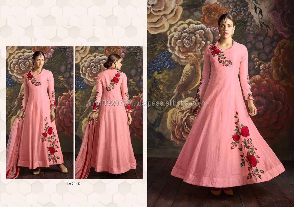 DESIGNER EMBROIDERED ANARKALI SUIT ONLINE SHOPPING