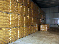 Clear color wood pellets