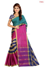 Fancy Half Half Aura Cotton Saree