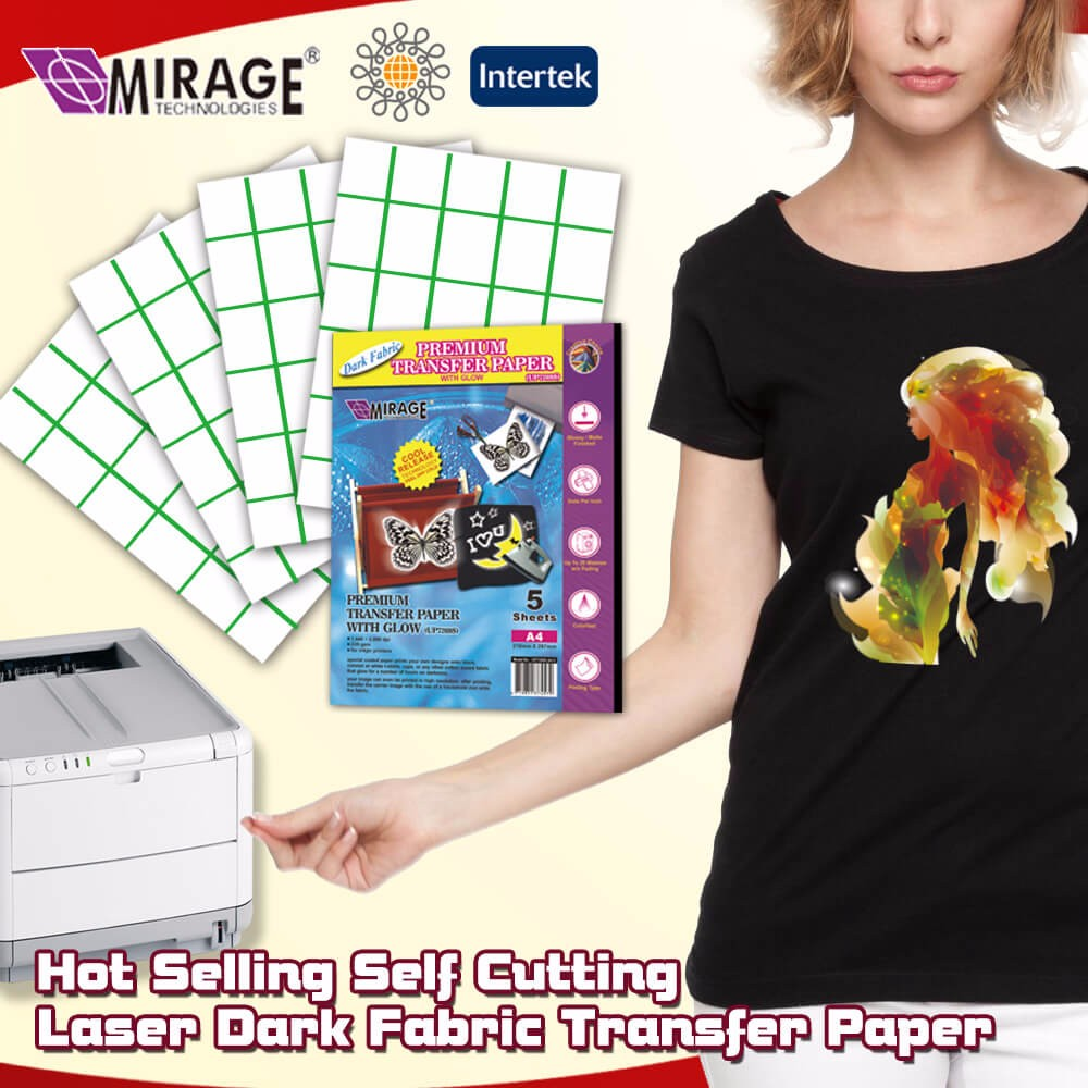 2017 Hot Selling Dark Fabric T-shirt Laser Transfer Paper