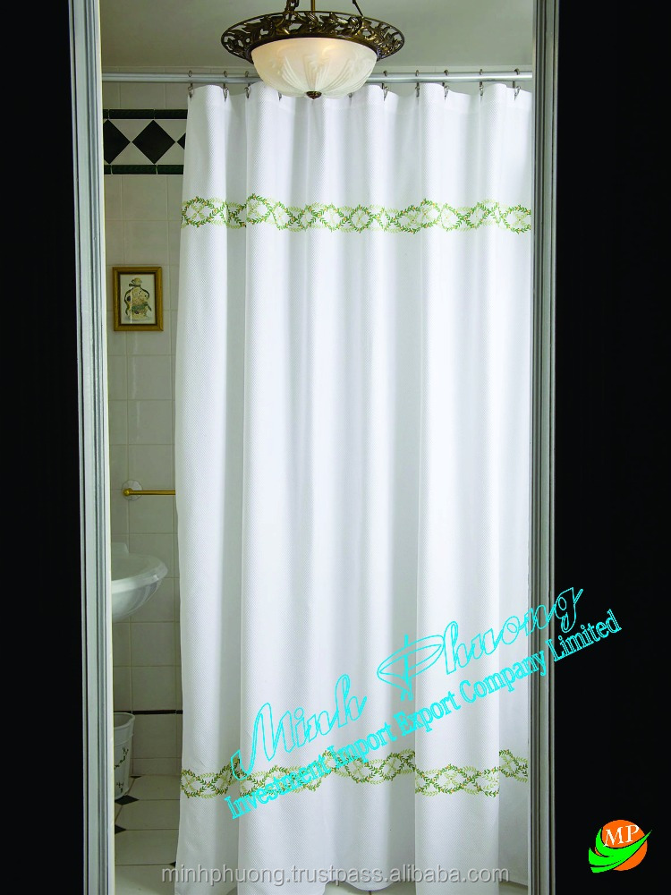 Good Quality Curtain Shower Flower border hand embroidery