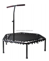 Hexagonal Fitness Mini trampoline with handle for adult