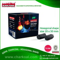 Top Grade Organic Black Sheesha Charcoal with Hexagonal Shape Available at Cost Effective Price