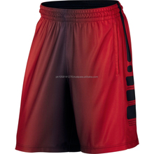 breathable quich dry shorts/free lose style shorts/sublimation style red and white clour shorts