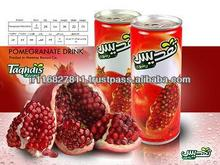 Iran Canned Pomegrante Juice 240ml all certificates