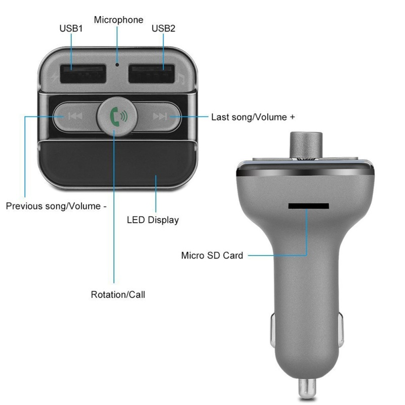 CE Bluetooth Car Handsfree ,Car bluetooth FM Transmitter , RoHS car handsfree kit,bluetooth handsfree car kit